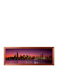 Art.com Dusk, Skyline, Chicago, Illinois, USA Framed Photographic Print - Online Only
