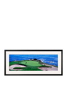 Art.com Golfers Pebble Beach, California, USA, Framed Photographic Print - Online Only