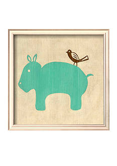 Art.com Best Friends - Hippo, Framed Art Print - Online Only