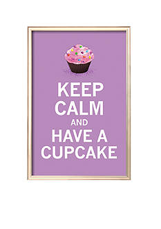 Art.com Lavender Cupcake, Framed Art Print - Online Only