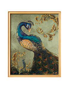 Art.com Peacock on Sage II Framed Art Print