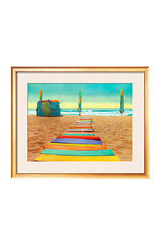 Art.com Beach Walk, Framed Art Print, - Online Only
