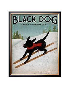Art.com Black Dog Ski Framed Art Print - Online Only