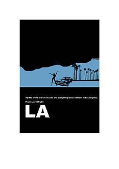 Art.com Los Angeles Poster, Stretched Canvas Print, - Online Only