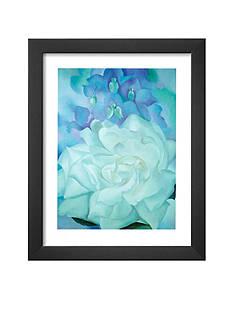 Art.com White Rose with Larkspur, Framed Art Print, - Online Only