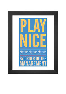 Art.com Play Nice Framed Art Print - Online Only