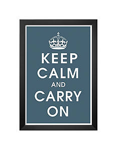 Art.com Keep Calm (charcoal), Framed Art Print, - Online Only