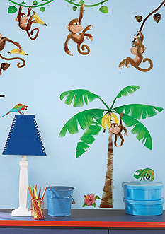 Art.com Monkey Business Peel & Stick Wall Decals, Wall Decal, - Online Only