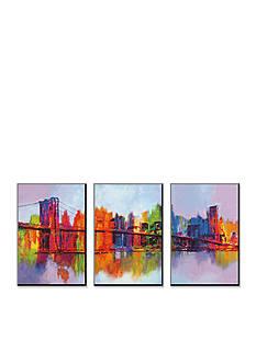 Art.com Abstract Manhattan, Wood Mount