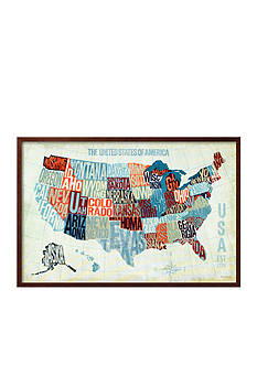 Art.com USA Modern Blue, Framed Art Print, - Online Only
