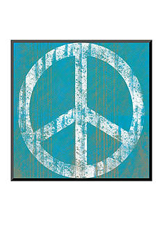 Art.com Blue Peace, Wood Mount, - Online Only