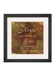 Art.com Words to Live By: In Our Home, Framed Art Print - Online Only