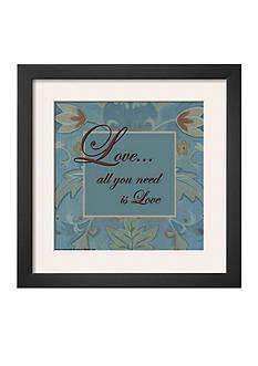 Art.com Tapestry Flowers, Love, Framed Art Print