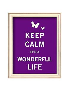 Keep Calm It 39 S A Wonderful Life Framed Art Print Online Only Belk Everyday Free