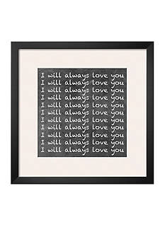 Art.com I Will Always Love You by Hakimipour-ritter, Framed Art Print