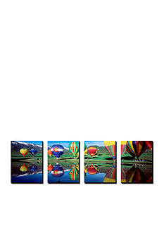 Art.com Reflection of Hot Air Balloons on Water, Colorado, USA, Canvas Art Set - Online Only