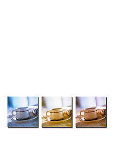 Art.com Coffee Cup Triptych, Canvas Art Set - Online Only