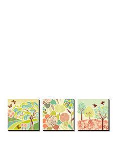 Art.com Summer Patterns Triptych, Canvas Art Set