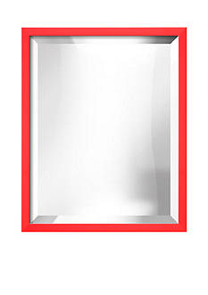 Art.com 17.5-in. W x 21.5-in. H Confetti Red Wood Framed Mirror - Online Only