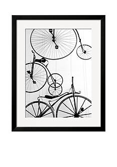 Art.com Bicycle Display at Swiss Transport Museum, Lucerne, Switzerland, Framed Photographic Print - Online Only