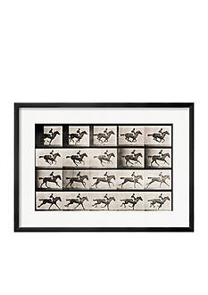 Art.com Jockey on a Galloping Horse, Plate 627 from Animal Locomotion, 1887, Framed Giclee Print - Online Only