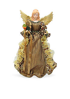 Santa's Workshop Winter White Angel Tree Topper