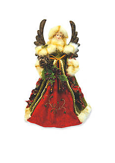 Santa's Workshop 16-in. Green Forest Angel Tree Topper