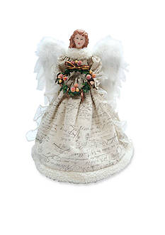 Santa's Workshop 16-in. Antique Scroll Angel Tree Topper