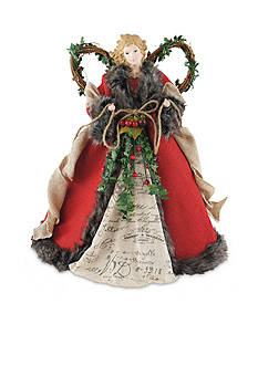 Santa's Workshop 16-in. Red Homespun Angel TT