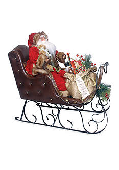 Santa's Workshop 26-in. Velvet Santa Sleigh