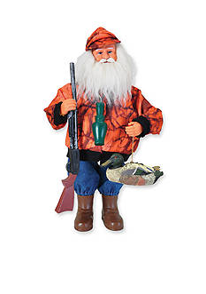 Santa's Workshop 15-in. Duck Hunter Santa