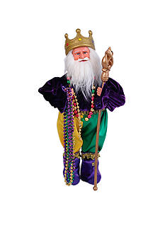 Santa's Workshop 15-in. Mardi Gras King Santa