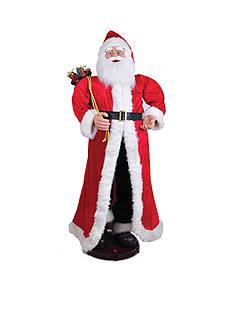 Santa's Workshop Musical Animated Traditional Santa