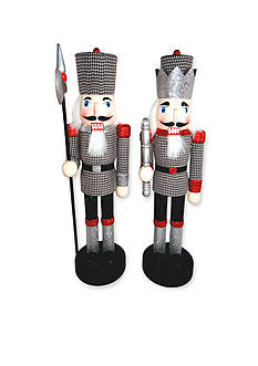 Santa's Workshop 14-in. Houndstooth Nutcrackers