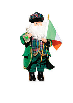 Santa's Workshop 15-in. Irish Santa