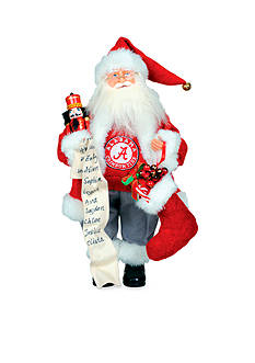 Santa's Workshop 15-in. Alabama Crimson Tide Santa - Online Only