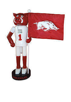 Santa's Workshop 12-in. NCAA Arkansas Razorbacks & Flag Nutcracker