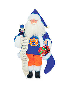 Santa's Workshop 15-in. Auburn Tigers Santa - Online Only