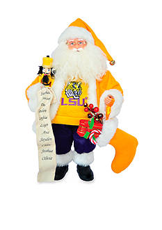 Santa's Workshop 15-in. LSU Tigers Santa - Online Only