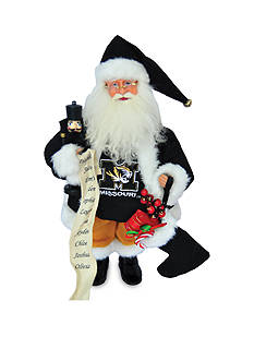 Santa's Workshop 15-in. Missouri Tigers Santa - Online Only