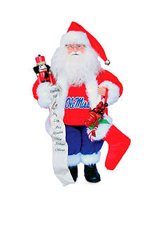 Santa's Workshop 15-in. Ole Miss Rebels Santa - Online Only