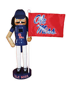 Santa's Workshop 12-in. NCAA Ole Miss Rebels & Flag Nutcracker
