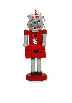 Santa's Workshop NC State Wolfpack Nutcracker Ornament Set