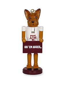 Santa's Workshop Texas A & M Aggies Nutcracker Ornament Set