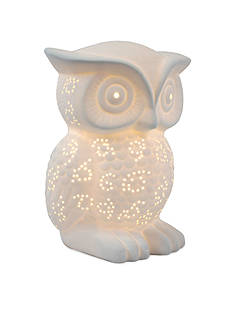 All the Rages Porcelain Wise Owl Table Lamp
