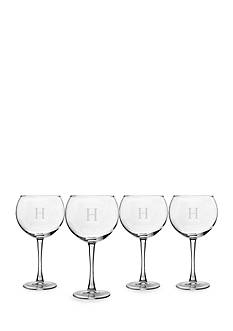 Cathy's Concepts Personalized Red Wine Glasses (Set of 4) - Online Only