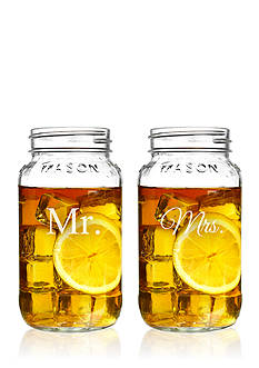 Cathy's Concepts Mr. & Mrs. 26-oz. Mason Jar Set