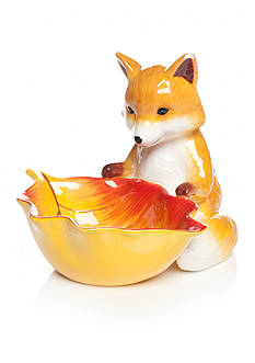 Home Accents Harvest Fox Candy Bowl