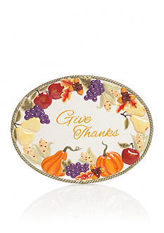 Home Accents Harvest Give Thanks Platter