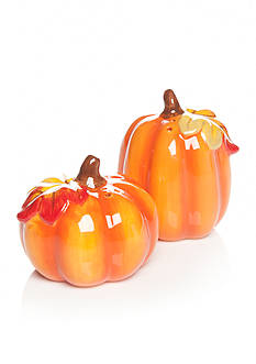 Home Accents Harvest Pumpkin Salt & Pepper Shakers